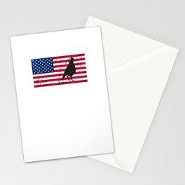 Quail Patriotic American Flag Stationery Cards
