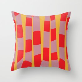 Abstract Snake Throw Pillow