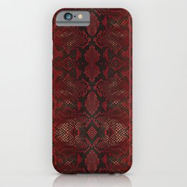 Red Python Snakeskin pattern iPhone Case