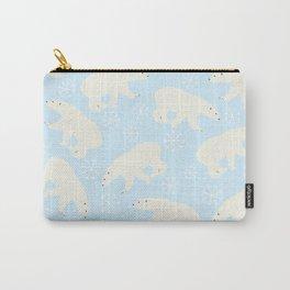 Polar Bear Snow Flake Pattern Carry-All Pouch