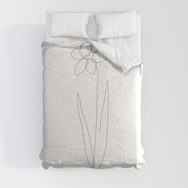 Fine Daffodil Line Comforters