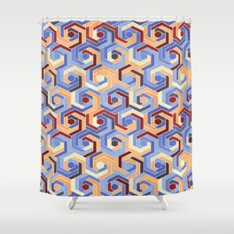 Back in the 60s terra Shower Curtain