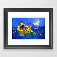 John Baptizes Jesus (by Chank Diesel) Framed Art Print