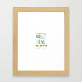 Just Read Framed Art Print