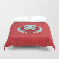lobster Duvet Covers featuring Lobster by Mr and Mrs Quirynen