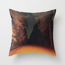 Serial Killer on his Way Home Throw Pillow