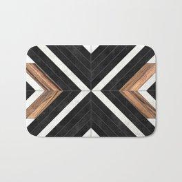 Urban Tribal Pattern No.1 - Concrete and Wood Bath Mat