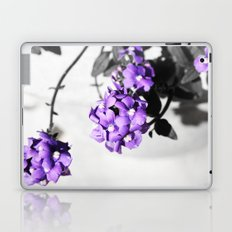 Purple Flowers Laptop & iPad Skin