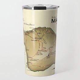 The Island of Maui [vintage inspired] Road map Travel Mug