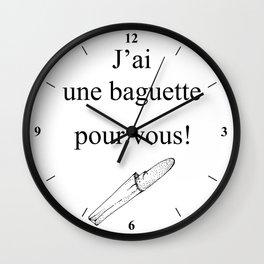 Mon Dieu! Wall Clock