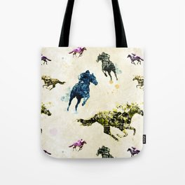Horse Race Tote Bag