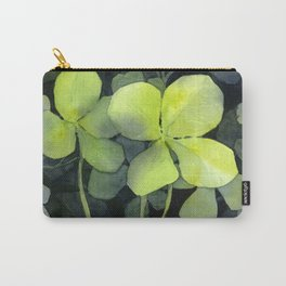 Clover Watercolor Four Leaf Clover Painting Lucky Charm Pattern Carry-All Pouch