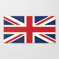 uk Canvas Prints featuring UK by Lucy Jacquard