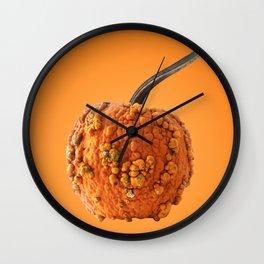 Warty Knucklehead Halloween Pumpkin Wall Clock