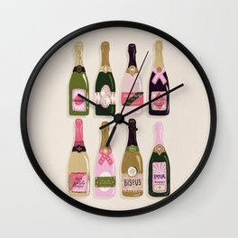 French Champagne Collection – Pink & Green Wall Clock