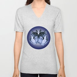Season of the Wolf - Duet in Sapphire Unisex V-Neck