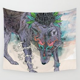 Journeying Spirit (wolf) Wall Tapestry