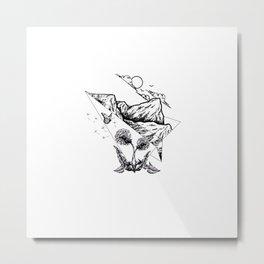 Paper Plane Nature Metal Print