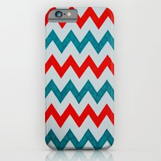 Red and Teal Chevron  Slim Case iPhone 6s