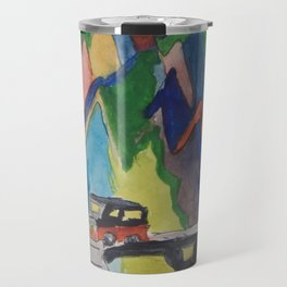 mountain pass Travel Mug