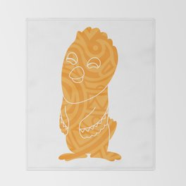 Tiki Bird Throw Blanket