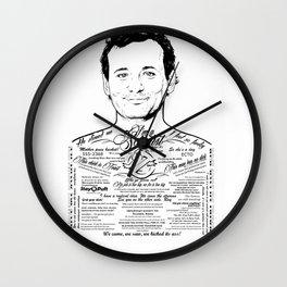Bill Murray Tattooed Ghostbusters Wall Clock