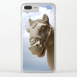 Stone Horse Head 2 Clear iPhone Case