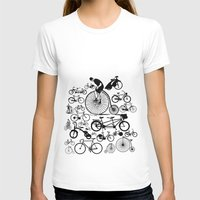 bicycles T-shirts featuring Bicycles by Ewan Arnolda