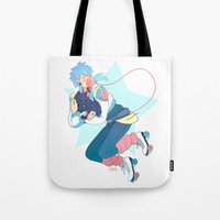 dmmd Tote Bags featuring Aoba by Meex Art