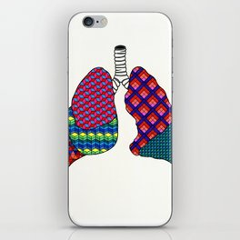 Geometric Lungs iPhone Skin