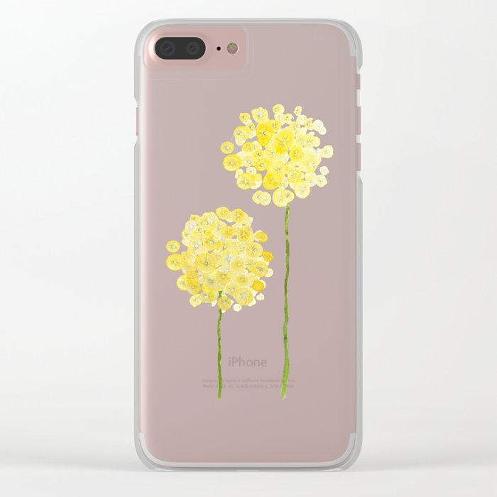 two abstract dandelions watercolor Clear iPhone Case