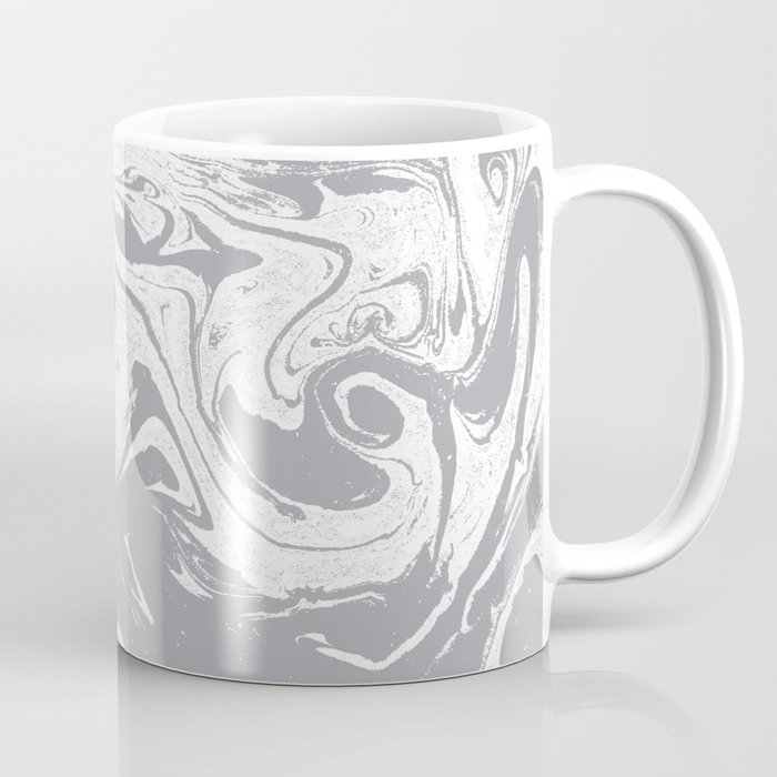 Suminagashi grey and white 1marble spilled ink ocean swirl watercolor painting Coffee Mug