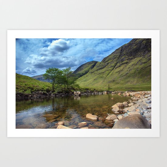 River Etive, Scotland Art Print