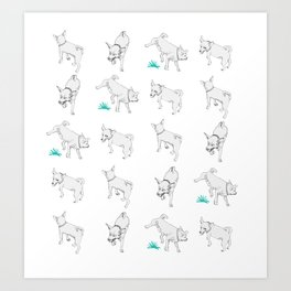 Karson the Chihuahua Art Print