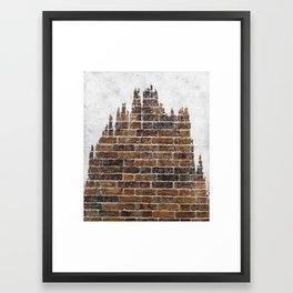 brick and tree Framed Art Print