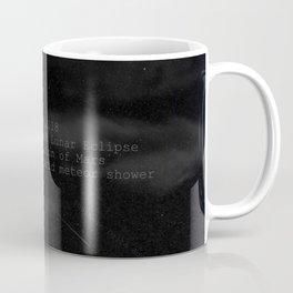 Blood Moon - Total Lunar Eclipse, Grand opposition of Mars, Southern Delta Aquarid meteor shower Coffee Mug