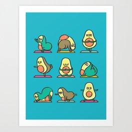 Avocado Yoga for Kids Art Print