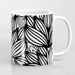 Modern hand drawn black white watercolor floral Coffee Mug