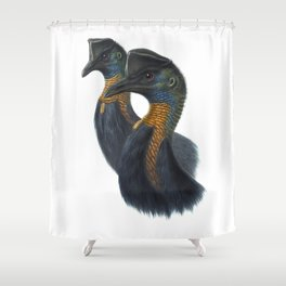 Northern Cassowary, tropical bird in the nature of New Guinea Shower Curtain
