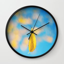 Yellow & blue Wall Clock