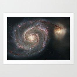 The Whirlpool Galaxy Art Print