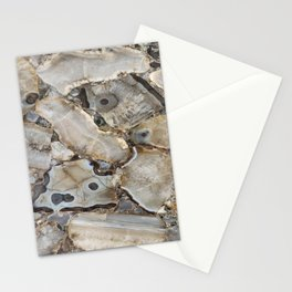 Beige Agate Stationery Cards