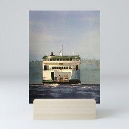 Salish Ferry Mini Art Print