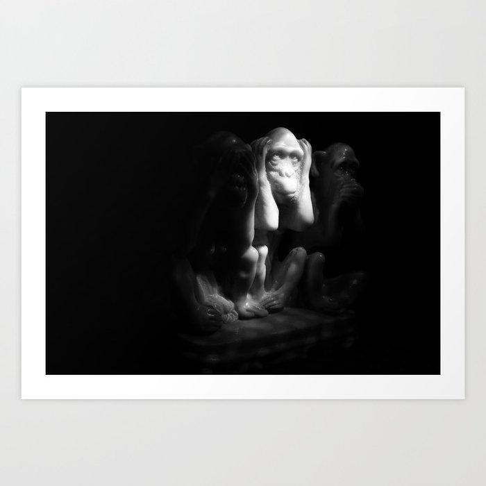 La Captivité Art Print