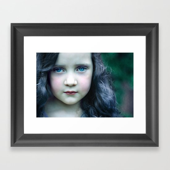 Even in my alternate universe, the rain makes my hair curl.  Framed Art Print
