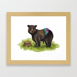 Fanny Pack Bear Framed Art Print
