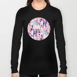 Pastel Watercolor Mermaid Scales Long Sleeve T-shirt