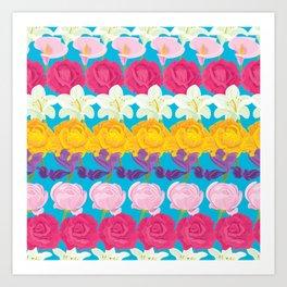 Flower Rainbow Art Print