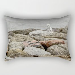 Snowy Owl by Teresa Thompson Rectangular Pillow