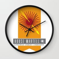 martell Wall Clocks featuring House Martell Sigil by P3RF3KT